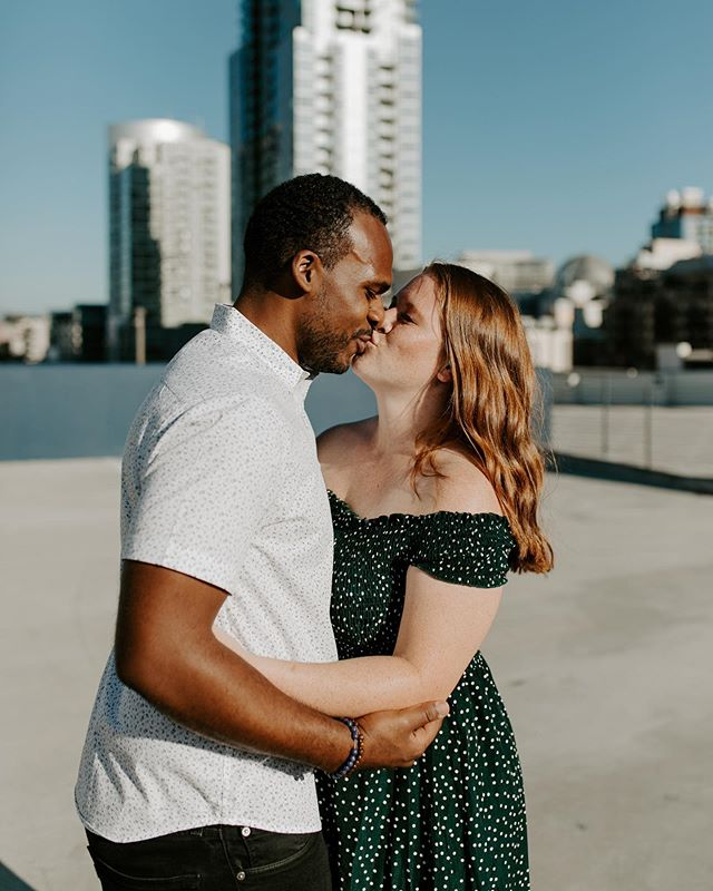 These two Texans decided to visit San Diego last week. We set up such a fun little session for them, from traipsing  around downtown rooftops to playing at the beach. Happy engagement guys!