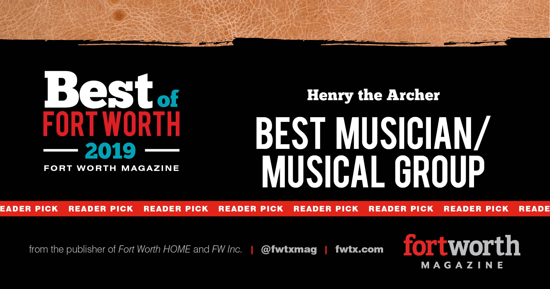 "Best of 2019 - ""Henry the Archer receives readers choice 2 years in a row!"""