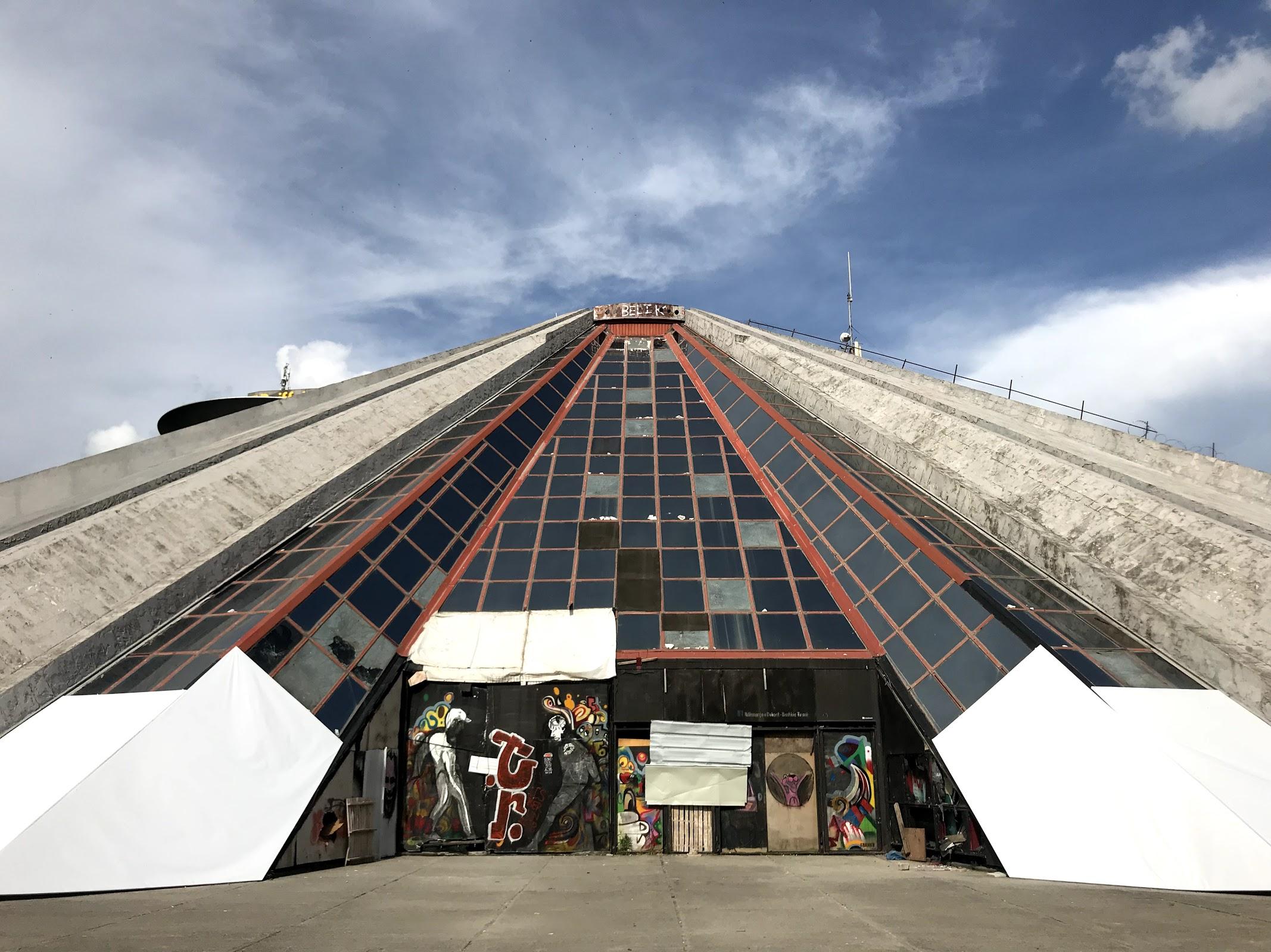 Tirana Albania pyramid and future tech hub
