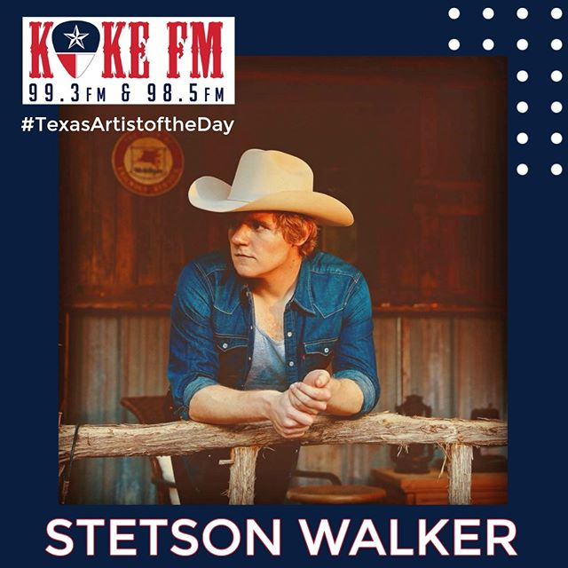 "He not only has the coolest name in Texas, @stets.walker also has a top twenty Texas radio hit with ""That's When The Party Starts"" and is today's KOKE FM #TexasArtistoftheDay."