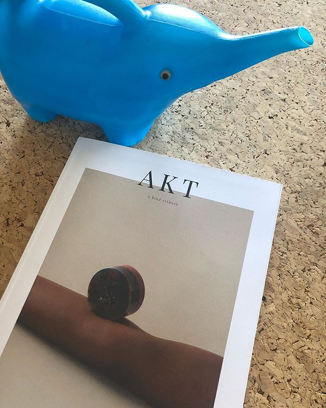 My blue watering can made it into the brand new @akt.magazine, in words :-) . #whatsonyourdesk #contributor  #aktmagazine #issuetwo #independentmagazine . stockists and online shop on aktmagazine.com