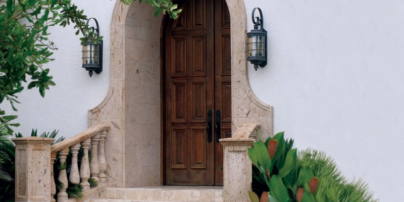 Pinon Stone Entry Surround, Balustrade & Newels.jpg
