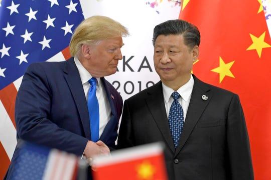 President Donald Trump and Chinese President Xi Jinping in Osaka, Japan, on June 29, 2019.   (Photo: Susan Walsh/AP)