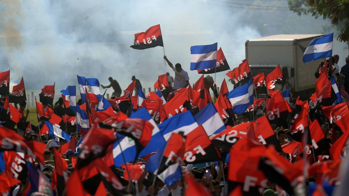 In 2018, supporters of Nicaraguan President Daniel Ortega celebrate the 39th anniversary of the Sandinista Revolution. Nicaragua has been added to the list of nations under the sway of Communism. Marvin Recinos  Getty Images