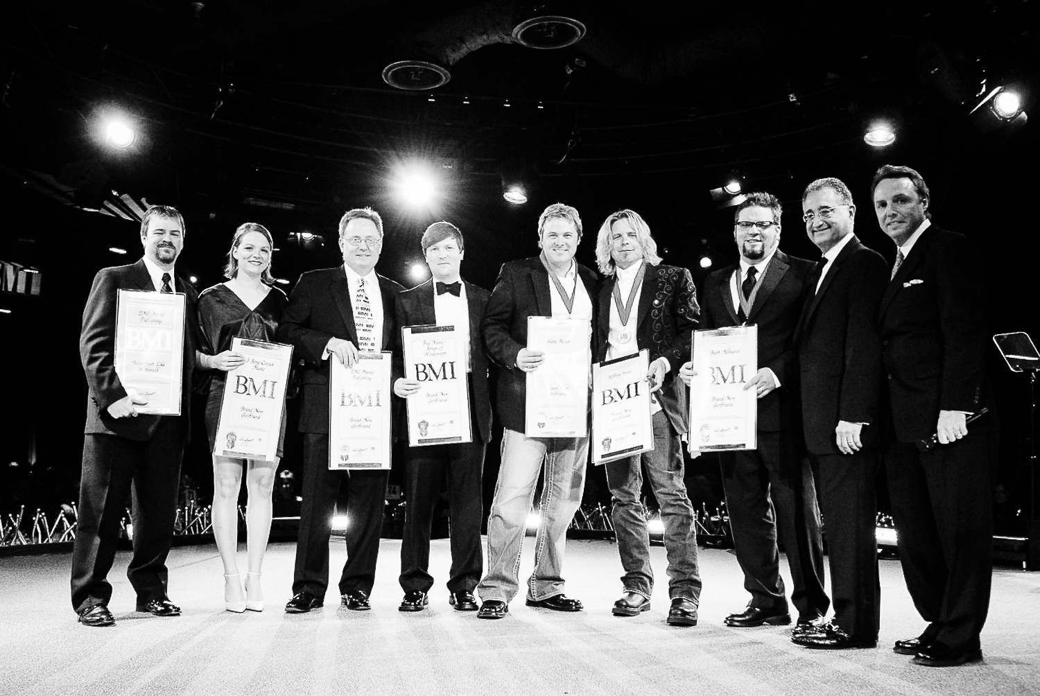 "Receiving my BMI Award for ""Brand New Girlfriend."" Not pictured, Willie (ha)!"