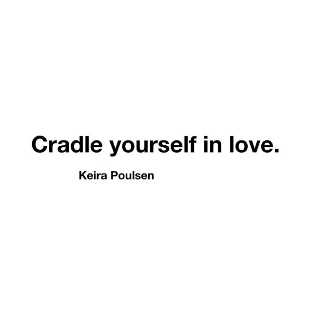 "Thes words just keep echoing through my head. ""Cradle yourself in love."" : : It's the best visual for me since I am such a lover of babies. Heck- I have 5 kiddos! And I probably would've have more if my husband would have said yes. 😂😂 : : I love babies. I love to hold them, and snuggle them. I could rock a baby all day and be totally happy in life. There is such safety in the act of cradling. : : So when these words showed up for me this week, I really felt their power. And I understood the deep necessity of having this type of love for myself. : : I know how easy it is to hard on yourself. I know the constant battle that goes on for many of you. Because, I too fight this battle. I am a recovering perfectionist, which means there are times when I have to really fight the inner critic. : : And the best way to combat it, is with love. ♥️ : : So today, try this idea on. See if you can imagine cradling yourself in love. Allow yourself to feel the safety and the peace that comes from that love. 🙏🏻✨ : : Because.... you are brilliant and amazing- JUST AS YOU ARE. 😘"
