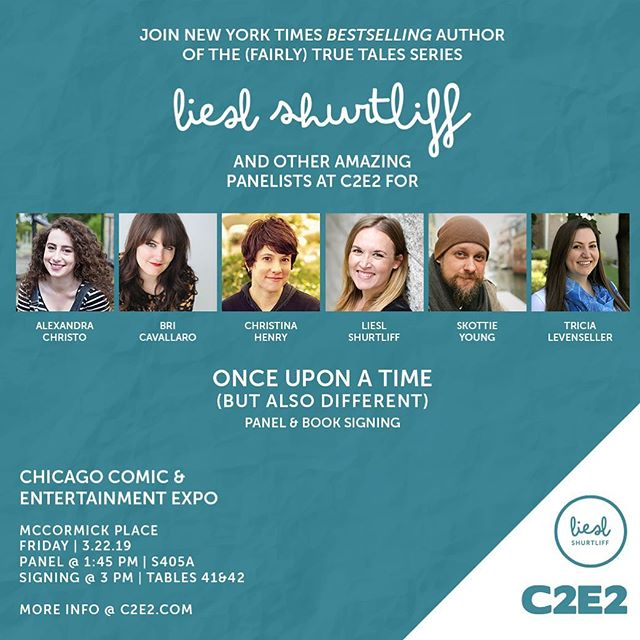 Chicagoland friends!  I'm speaking at #c2e2 with some amazing panelists on Friday, March 22nd. I would love to see you there!  More info @ c2e2.com  #mglit #kidlit #fairlytruetales #lieslshurtliff