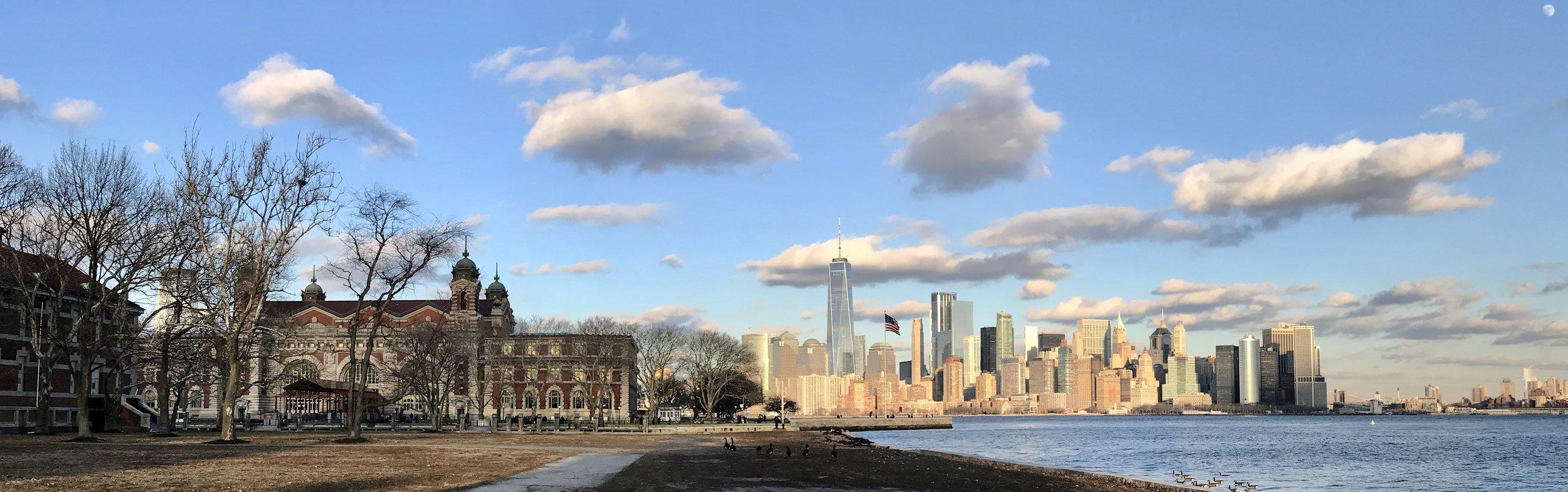 Ellis Island & Manhattan, NYC Skyline