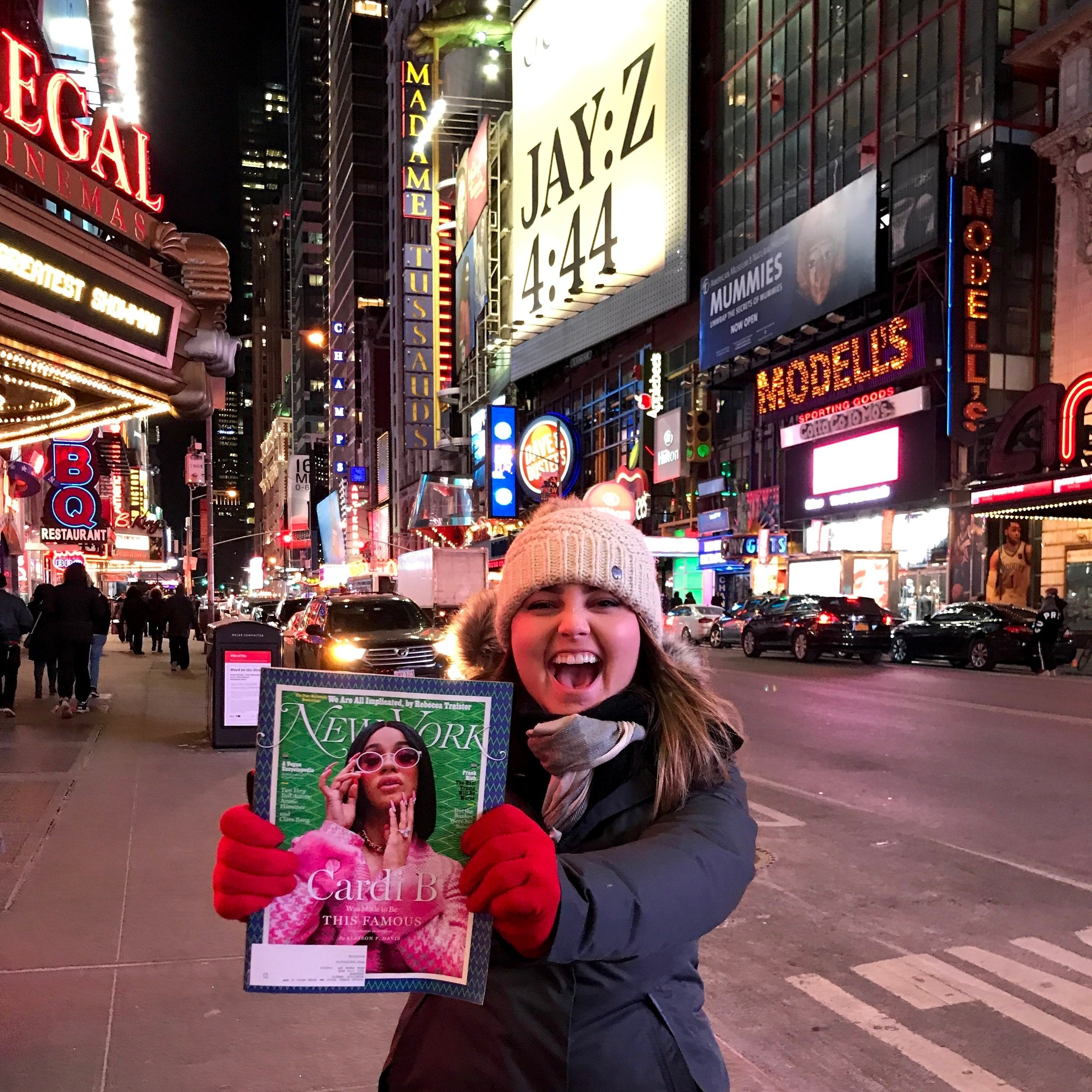 Times Square, Cardi B, and me! New York City, NY