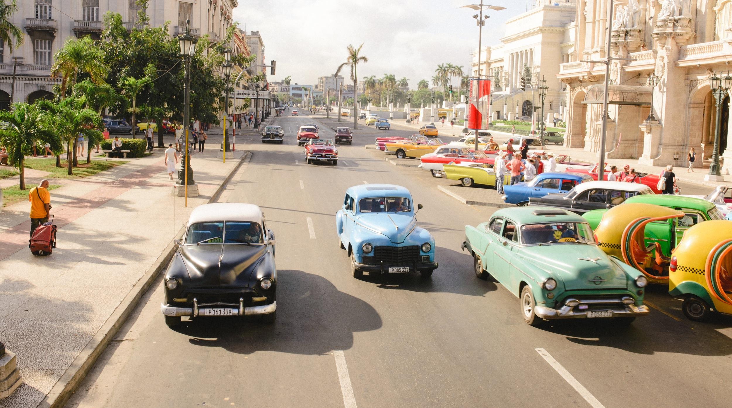 Classic 1950s cars in Cuba