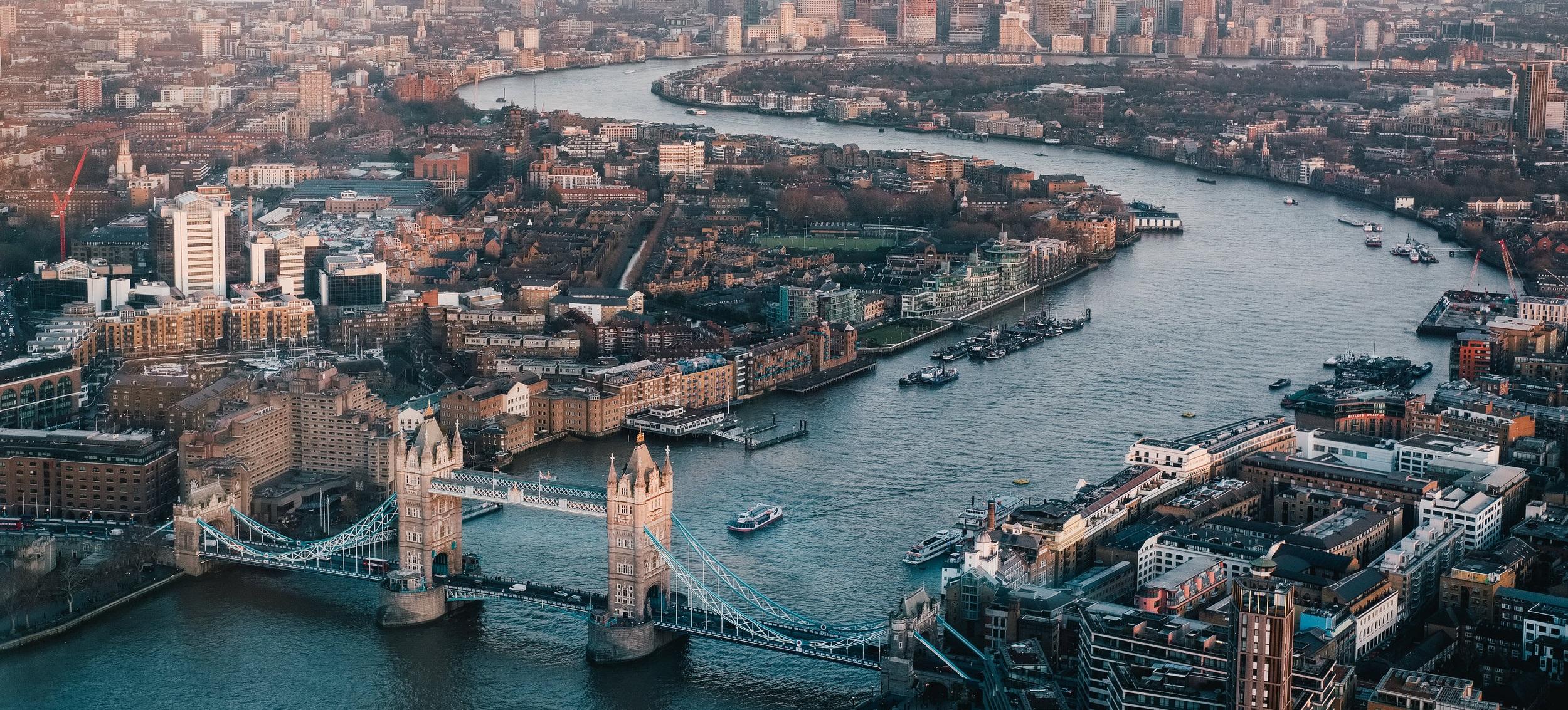 Tower Bridge and the River Thames, London, England, United Kingdom