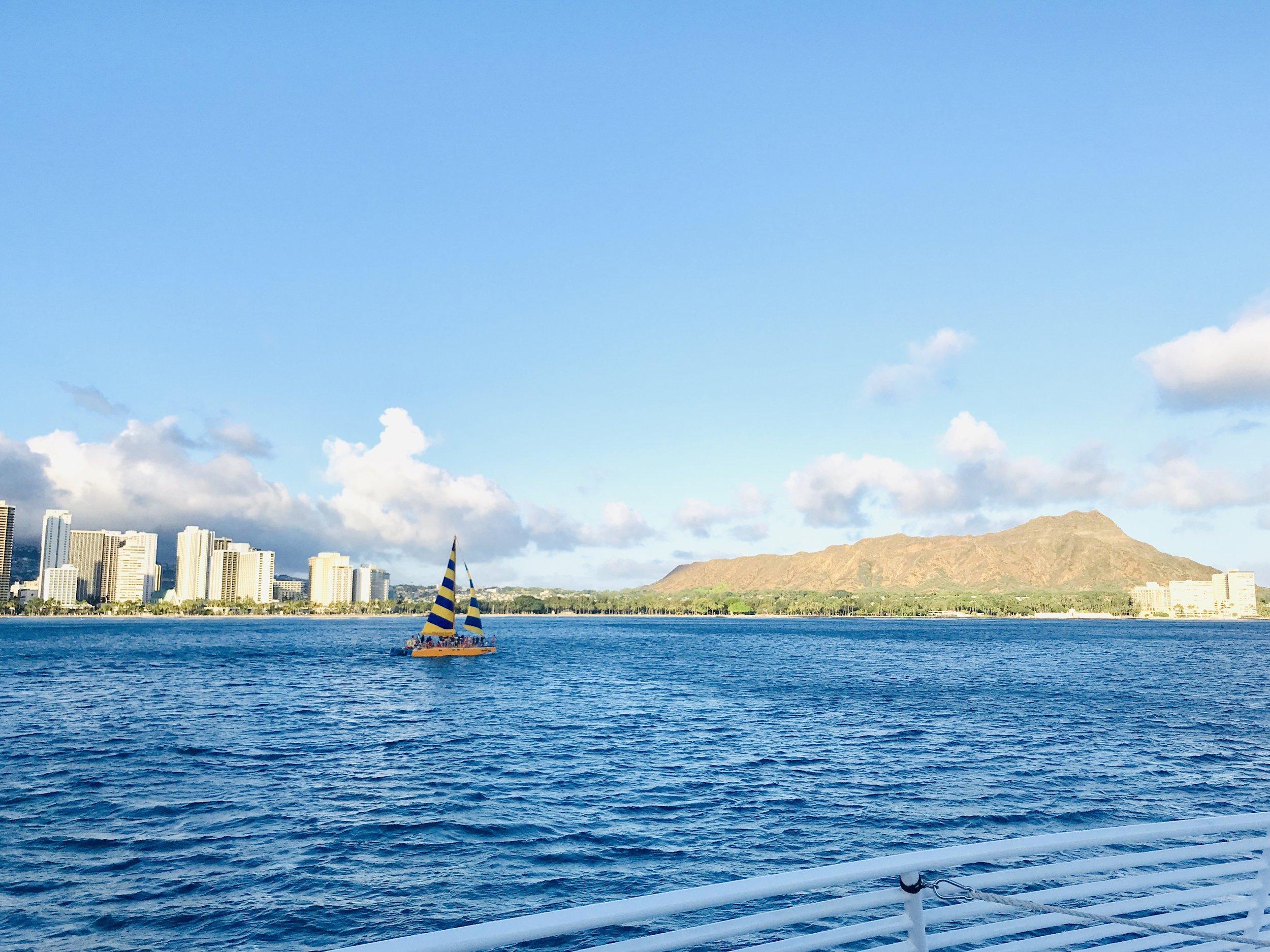Waikiki Beach & Diamond Head, Honolulu, Oahu, Hawaii