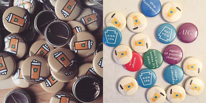 Original and Redesigned buttons