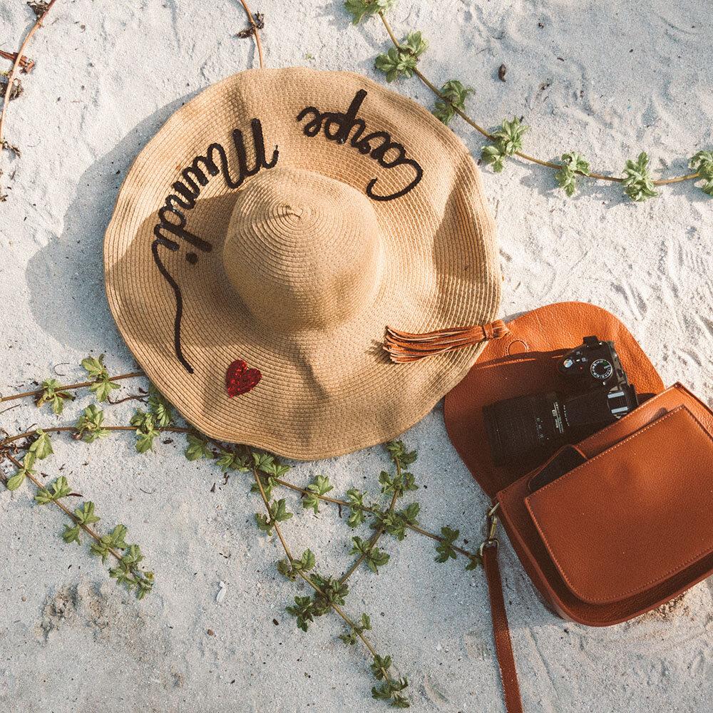 Stylish leather camera bag for women