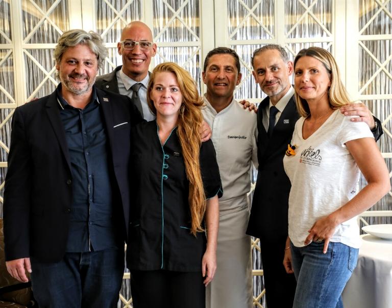 Dream team from La Maison Hubert, Hotel Beau-Rivage Genève and Geneva beekeeper Stéphanie Vuadens