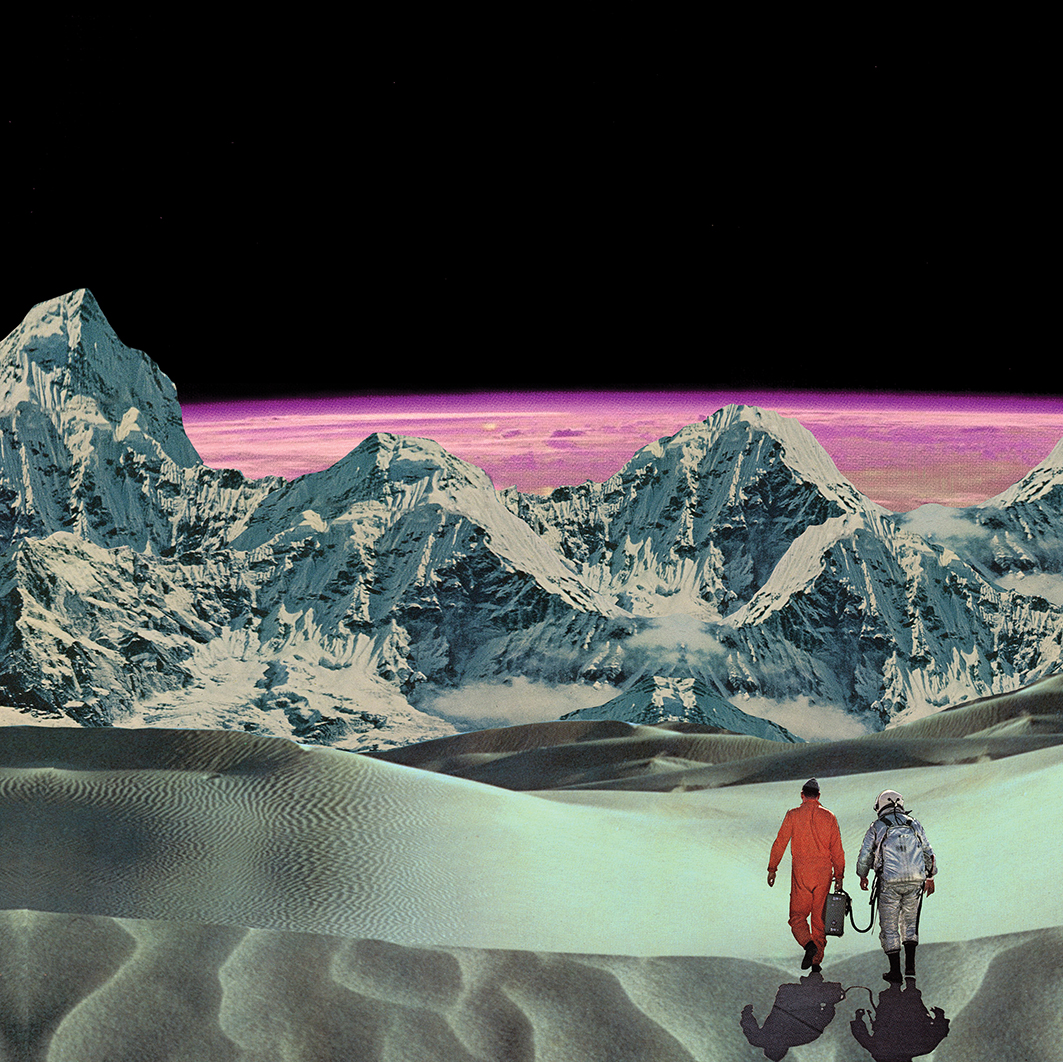 Another Time, Another Planet | 2017 | garethhallidaycollageart.com