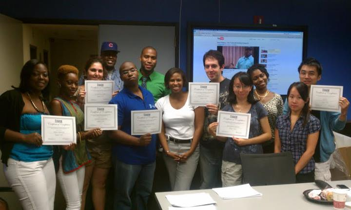 """City University of New York.  Graduating class of """"Financial Literacy & Wealth Development"""" course by Ana Armstrong, AMEX Analyst."""