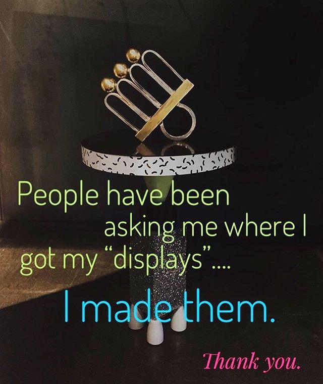 I made them all. #miniaturefurniture #woodworking #buildit #craftmanship #sculpture #art #memphisdesign #memphisdesigninspired #hommage #80s #architecture #architectural #pomo #postmodern #postmodernism