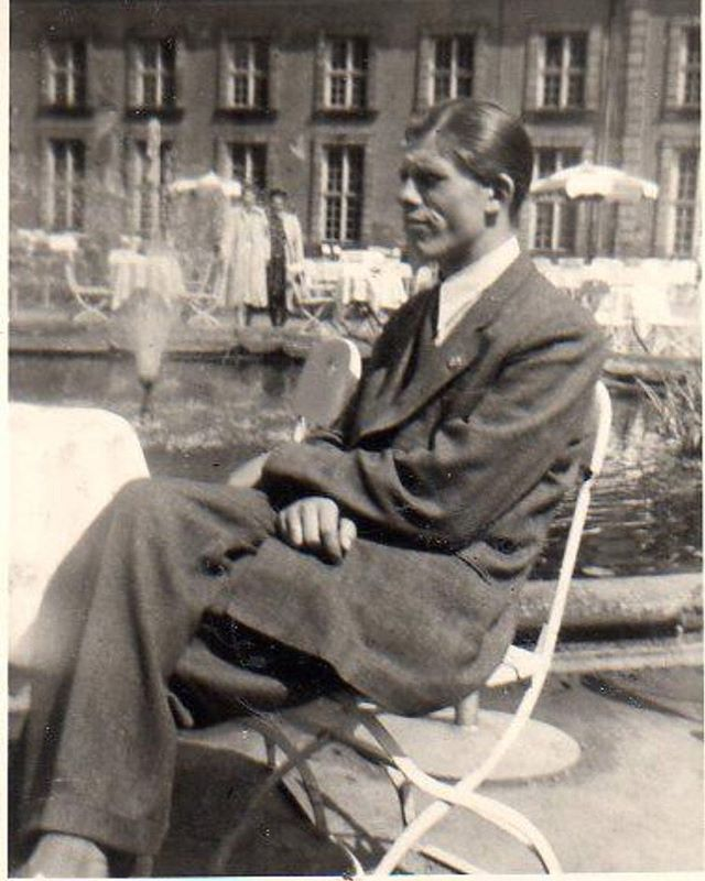 This is my father. Photo taken just before my parents came to the states in 1953. He taught me so much. I miss him terribly. #fathersday #germany #artist #woodworker #german #bestdressed #fashion #style