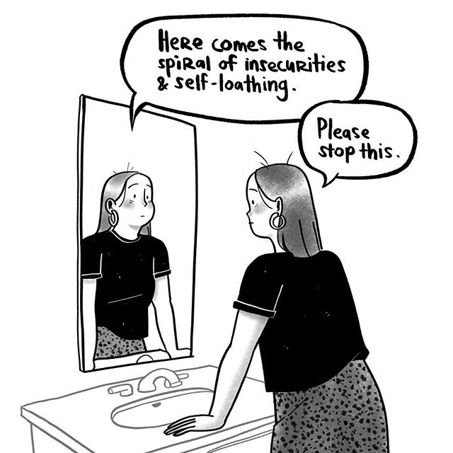 In the past couple of years, I've gotten a lot better at recognizing when intrusive thoughts start to spiral. Even when I'm aware of it I still end up being affected by it. The difficult part is finding an anchor to keep from getting swept up into the current. Reminder to my mirror self: you're worthy of the love you receive, you're a perfectly imperfect person, and you're gonna be okay 💕