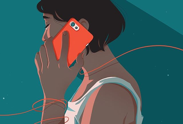 """Illustrations for @healthline: """"What Do You Do When a Suicide Crisis Line Fails You?"""" written by @ashley_unicorn, edited by @samdylanfinch. When you're in crisis–if hotlines do more harm than good–know that you're not alone, that there are other resources that can help you, and have a plan. Link will be in bio for you, or anyone you think it may help 💕"""