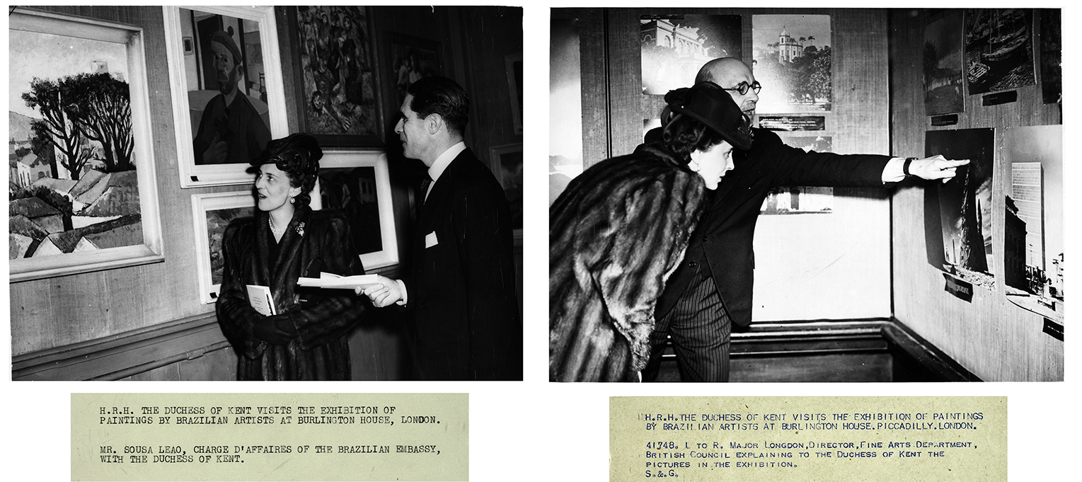 5. H.R.H. The Duchess of Kent visits the Exhibition of Paintings by Brazilian artists at Burlington House, 1944, Royal Academy of Arts.