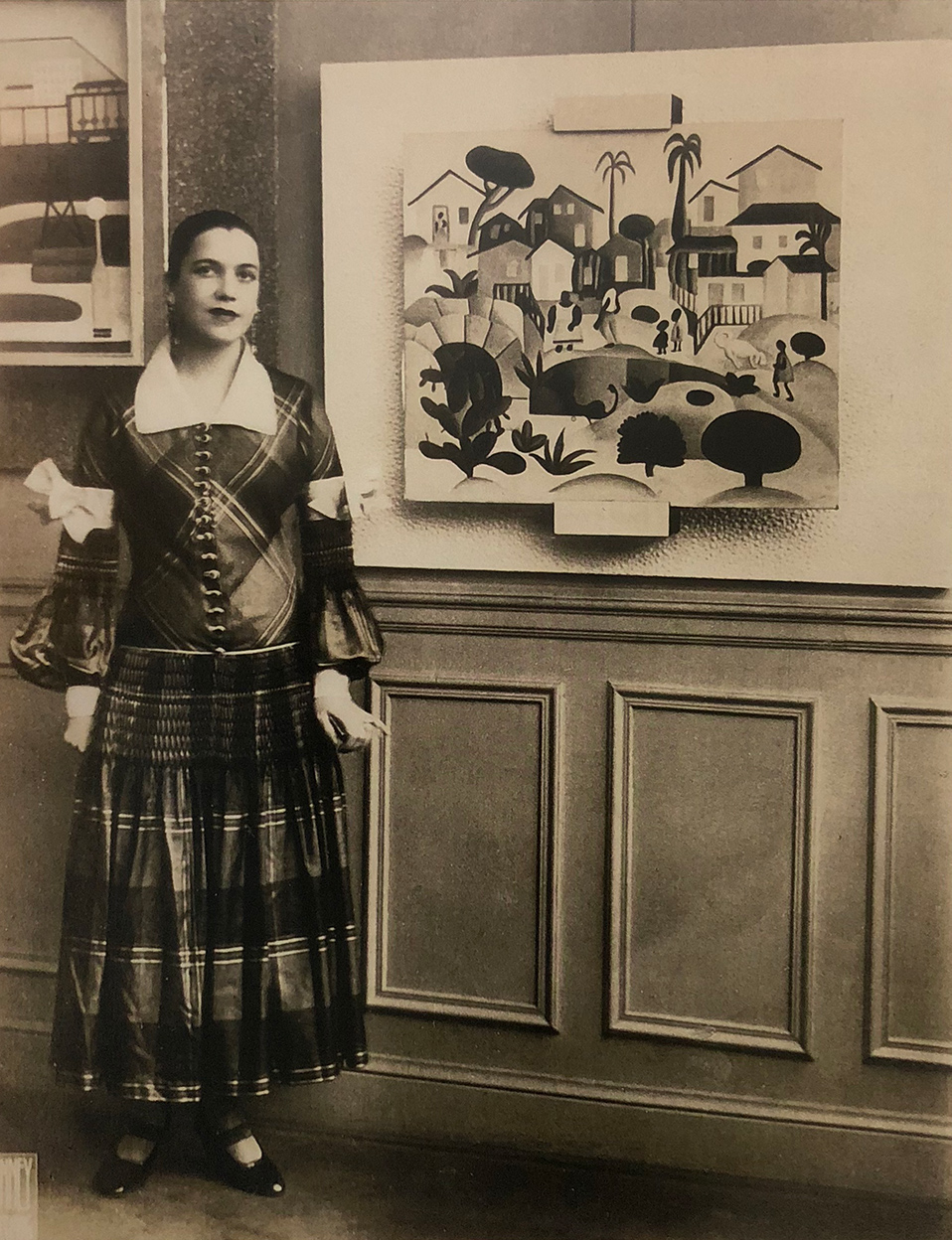 9. Artist Tarsila do Amaral at Galerie Percier, Paris July 1926, Arquivo do Instituto de Estudos Brasileiros da Universidade de São Paulo.  Tarsila do Amaral: Inventing Modern Art in Brazil , 2018, MoMA, New York