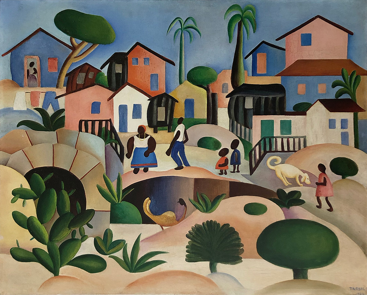15. Tarsila do Amaral,  Hill of the Favela , c. 1924, Hecilda and Sérgio Fadel Collection, Rio de Janeiro.  Tarsila do Amaral: Inventing Modern Art in Brazil , 2018, MoMA, New York
