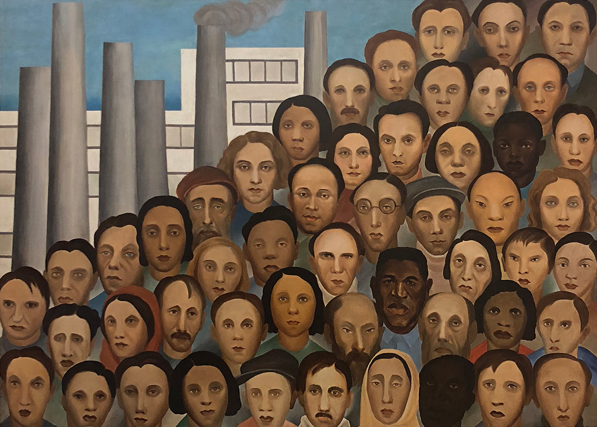 19. Tarsila do Amaral,  Workers , c. 1933, Acervo Artístico-Cultural dos Palácios do Governo do Estado de São Paulo.  Tarsila do Amaral: Inventing Modern Art in Brazil , 2018, MoMA, New York