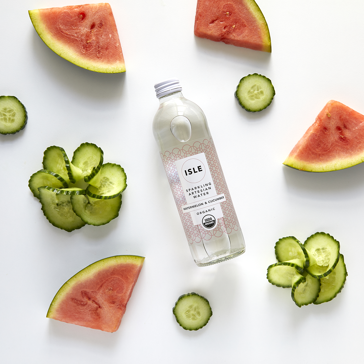 Watermelon + Cucumber - Enjoy the refreshing delights of watermelon + cucumber extracts lightly infused in sparkling artesian spring water.