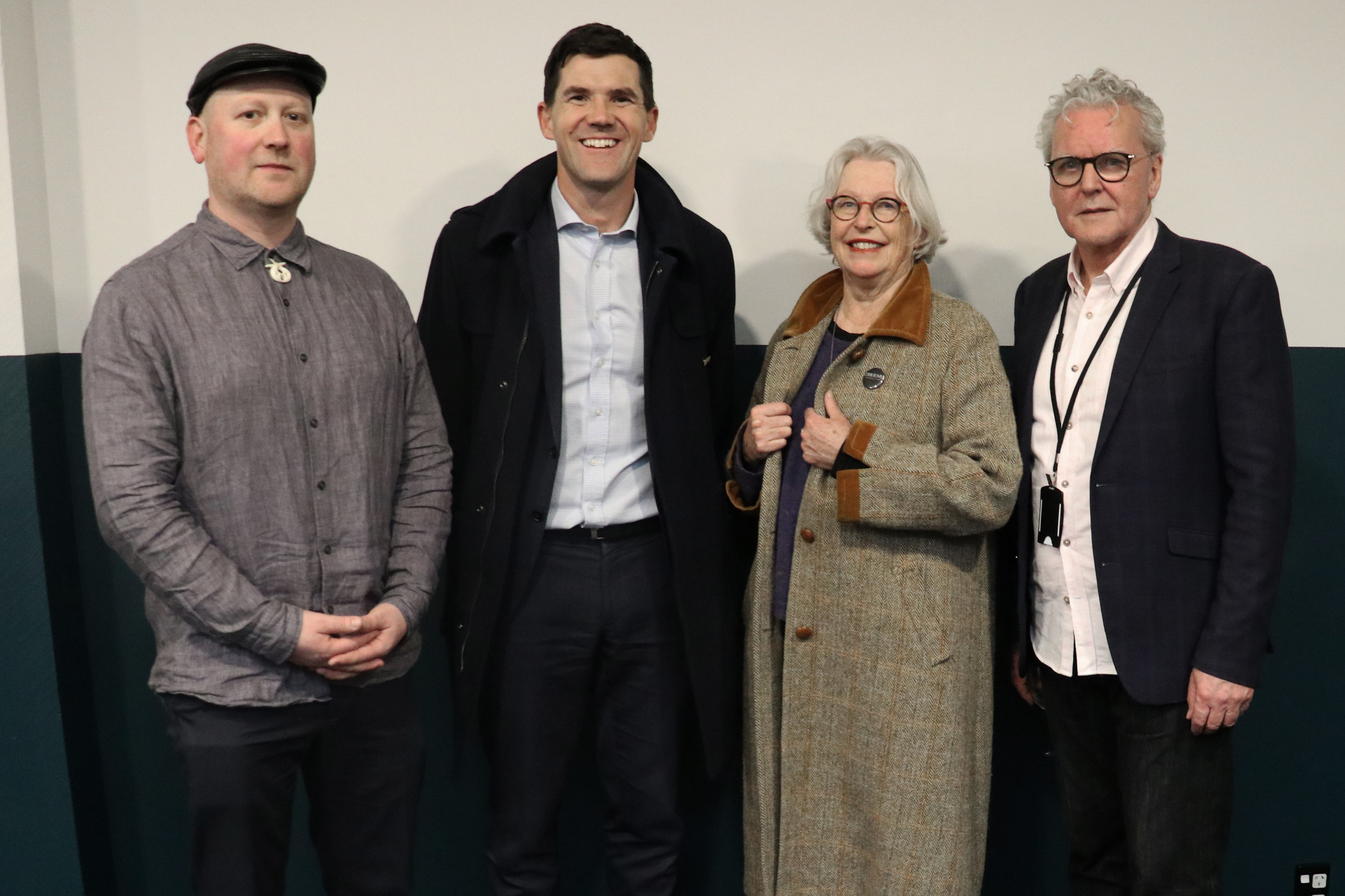 POW Studios Opening Event  (Left to Right)  Creative Director Matt Lambourn, Mayor Justin Lester, Dame Gaylene Preston and CEO John McKay