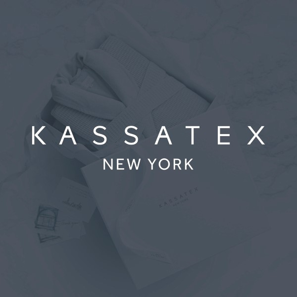 Wrap yourself in luxurious comfort with our Kassatex towels and bathrobes. Modern elegance, unparalleled quality, and a headquarters in the Garment District make Kassatex the go-to source for linens.