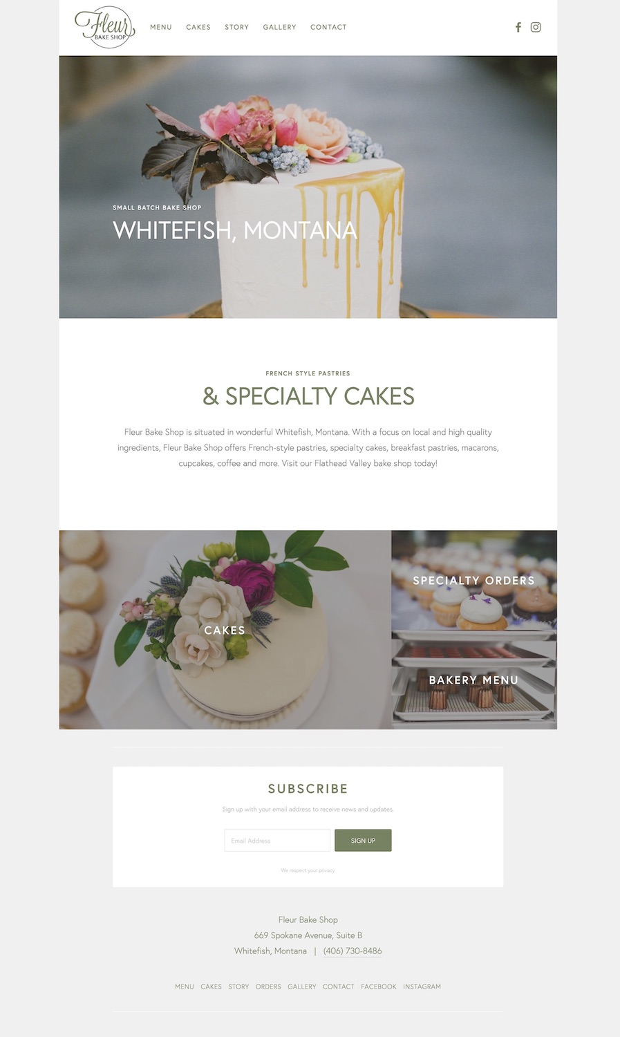 Small Batch BakeryWebsite Design - Location: Whitefish, MontanaWebsite design for a small batch bake shop in Whitefish, Montana. This mobile-friendly website features a responsive layout with bakery menu, contact form and a Mailchimp integration.tags: whitefish web design, minimal web design, modern web design, craft web development, bakery website design, mobile-friendly web design, ssl certificate, mailchimp, website training, squarespace training, authorized squarespace trainer