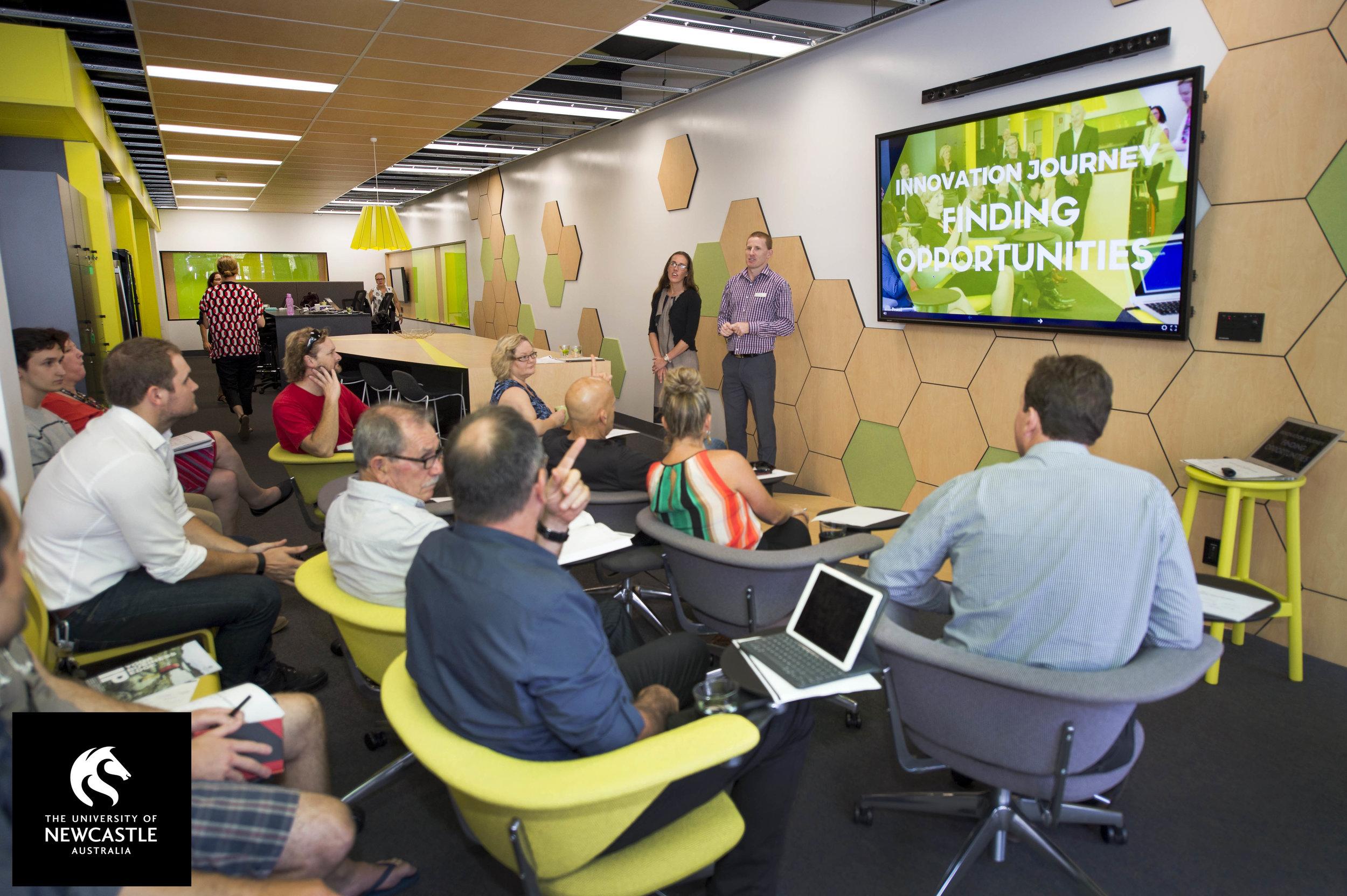 University of Newcastle's Three76 Innovation Hub event space.jpg