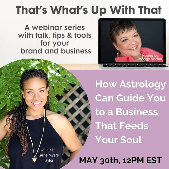 What does astrology have to do with your business?  Well, if you're one of the growing number of people who are looking to align with a career that feeds their wallets AND their soul, astrology is EVERYTHING.⠀⠀⠀⠀⠀⠀⠀⠀⠀ ⠀⠀⠀⠀⠀⠀⠀⠀⠀ Sign up for this FREE webinar where I clue you in on how your astrological soul purpose is connected to your business.  The whole shebang will be hosted by one of my favorite women on the planet, Brand & Business Coach, @maggysterner!  You DO NOT want to miss this!⠀⠀⠀⠀⠀⠀⠀⠀⠀ ⠀⠀⠀⠀⠀⠀⠀⠀⠀ I'll be giving discounts on my Soul Career Astrology Readings to participants during the webinar.  Check my link in the bio (and below) to sign up.  See you online!⠀⠀⠀⠀⠀⠀⠀⠀⠀ ⠀⠀⠀⠀⠀⠀⠀⠀⠀ Tag one friend you think could really use this!⠀⠀⠀⠀⠀⠀⠀⠀⠀ ⠀⠀⠀⠀⠀⠀⠀⠀⠀ Comment 💬 | Like 👍🏽 | Share 🤳🏽⠀⠀⠀⠀⠀⠀⠀⠀⠀ ⠀⠀⠀⠀⠀⠀⠀⠀⠀ #astrology  #lawofattraction #soulpurpose #loveyourwork #life #business #astrologypost  #loveyourlife  #selflove #selfcare #selfkarrie #wellness #webinar #blackgirlmagic #motivation #hersuccess  #manifestyourdreams #lightworker  #rising #empowerment #mentalhealth #supersoulsunday #career #align #levelup #ladyboss #ladyboss #entrepreneur #soulconnection #brand⠀⠀⠀⠀⠀⠀⠀⠀⠀ ⠀⠀⠀⠀⠀⠀⠀⠀⠀ (link HERE and in the bio) https://zoom.us/meeting/register/bd91bacb2e6f2cb87510d14dfea9e911