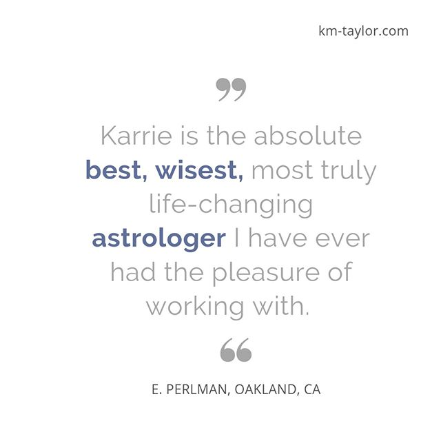 Have you been thinking about getting an astrology reading?⠀⠀⠀⠀⠀⠀⠀⠀⠀ ⠀⠀⠀⠀⠀⠀⠀⠀⠀ I am so grateful for this gift of being able to interpret Astrology in a way that helps people discover their blind spots and recognize their gifts.  And I'm even more grateful for my generous clients, who take time out of their busy lives to write me amazing testimonials like this one, about our work together.⠀⠀⠀⠀⠀⠀⠀⠀⠀ ⠀⠀⠀⠀⠀⠀⠀⠀⠀ If you are seeking greater clarity, confidence and empowerment in your life, go to my website and schedule one of the 6 types of Astrology readings I offer!⠀⠀⠀⠀⠀⠀⠀⠀⠀ ⠀⠀⠀⠀⠀⠀⠀⠀⠀ Wondering what it's like to work with me?  Go to the Praise page on my website and peruse some of the reviews my clients have written.⠀⠀⠀⠀⠀⠀⠀⠀⠀ ⠀⠀⠀⠀⠀⠀⠀⠀⠀ The link to my website is down below and in the bio!⠀⠀⠀⠀⠀⠀⠀⠀⠀ (https://km-taylor.com/praise)⠀⠀⠀⠀⠀⠀⠀⠀⠀ ⠀⠀⠀⠀⠀⠀⠀⠀⠀ Tag one friend you think could really use this!⠀⠀⠀⠀⠀⠀⠀⠀⠀ ⠀⠀⠀⠀⠀⠀⠀⠀⠀ Comment 💬 | Like 👍🏽 | Share 🤳🏽⠀⠀⠀⠀⠀⠀⠀⠀⠀ ⠀⠀⠀⠀⠀⠀⠀⠀⠀ #astrology #astrologymemes #astrologyreading  #astrologer #empowerment #entrepreneur #ladyboss #intuitiveguidance #tarot #zodiac #lifehack #universehasyourback #selflove #selfcare #adulting #bestlife #lifechanges #relocation #relationshipgoals #levelupchallenge #travel #careerchange #claritycounts #confidence #answers #lawofattraction #followthestars