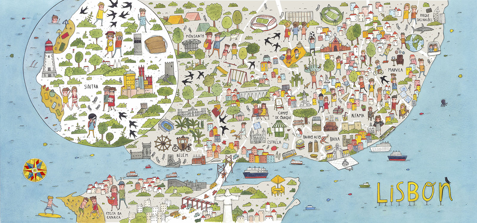 The map of Lisbon