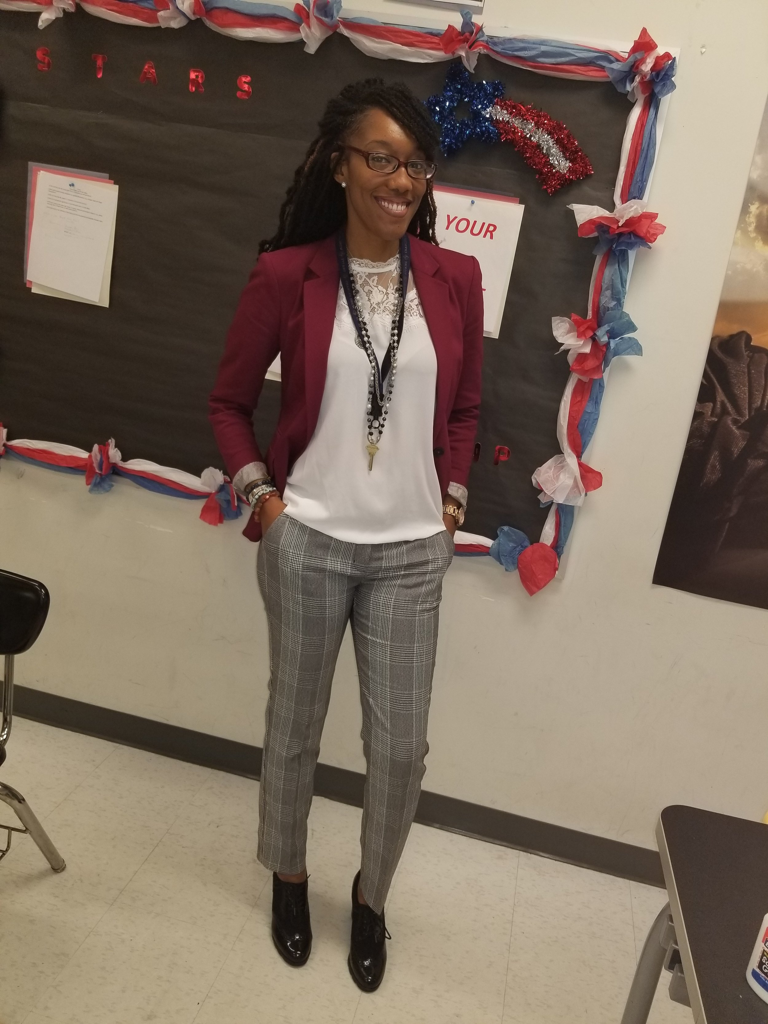 She is now one of the Sponsors for the school's chapter of the National Beta Club and is also the school's Ambassador for the United Way. -