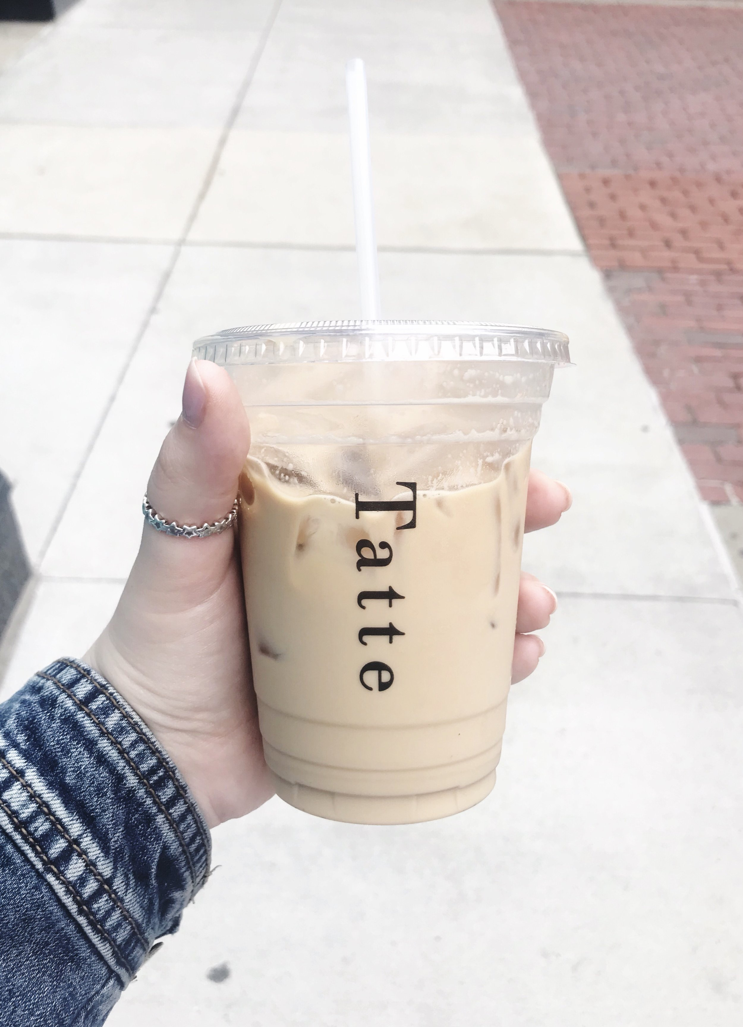 The size of a large iced latte at Tatte