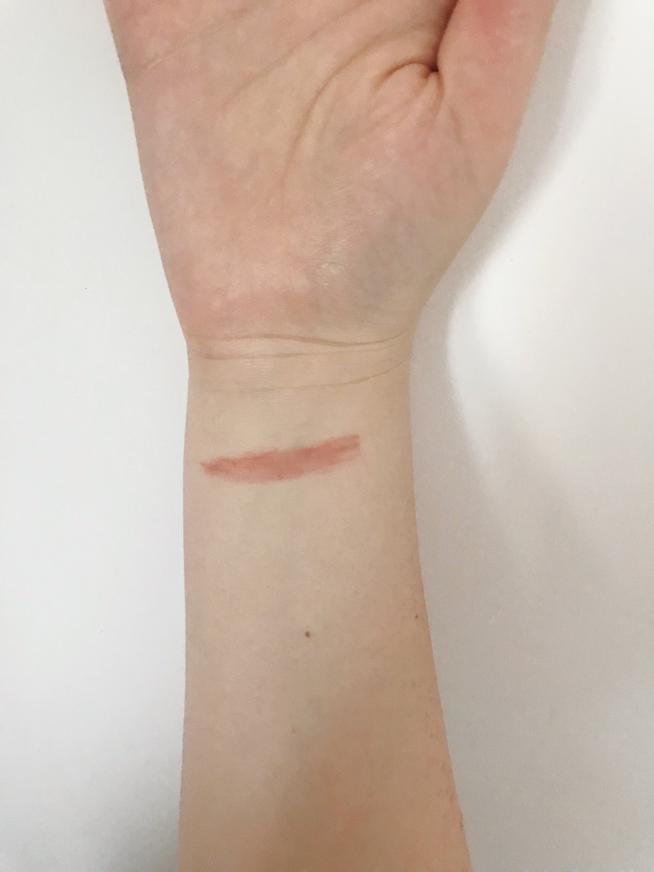 I swatched it on my arm. Note: I applied it directly on my skin, didn't put any foundation before swatching it.