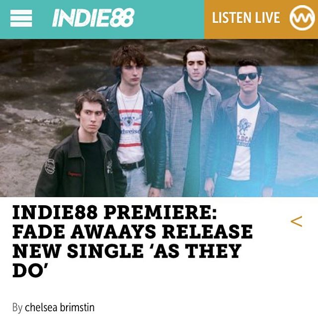 "@indie88toronto just did an early premiere of ""As They Do""! Be the first to listen,  LINK IN BIO. 🔥🤘 - - - #fadeawaays #fadeawaaysband #astheydo #indie88 #indie88toronto #toronto #premiere #newmusic #rockmusic #indierock #garagerock #rocknroll #musicblog"
