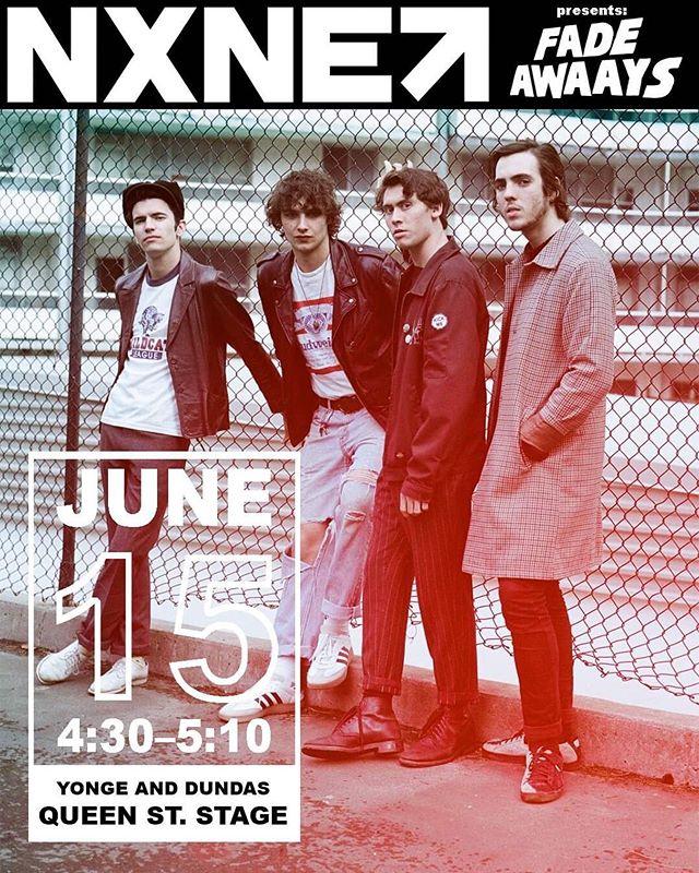 @nxne 😇 📸: @austen_ambraska - - - - - #fadeawaays #fadeawaaysband #nxne #nxne2019 #yongeanddundas #toronto #torontomusicscene #torontomusic #indieartist #indierock #garagerock #rocknroll #rockmusic #newmusic #musicfestival #festivalseason