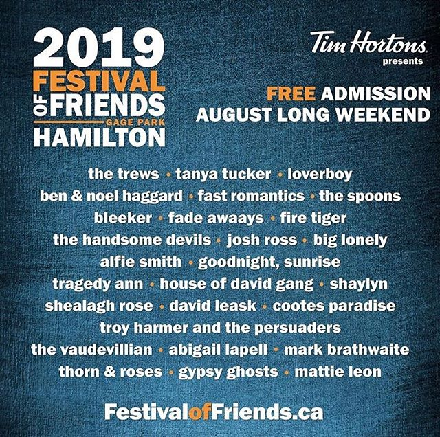 JUST ANNOUNCED: We'll be making a quick stop in Hamilton on Friday, Aug, 2nd to play @festoffriends with our friends @thetrews, @fastromantics & @loverboyband 😜 before heading up to Muskoka to play @thekeetobala W/ @thebeachesband on Aug 4th! This long weekend's shaping up to be real exciting. 🎉🎉🎉 - - - - #fadeawaays #fadeawaaysband #festoffriends #hamilton #hamiltonmusicscene #longweekend #loverboy #thetrews #fastromantics #thebeaches #keetobala #timhortons #rockmusic #garagerock #indierock #festival #livemusic
