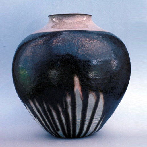 glazed jar