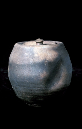 wood-fired covered jar with slash - museum of modern art - nyc