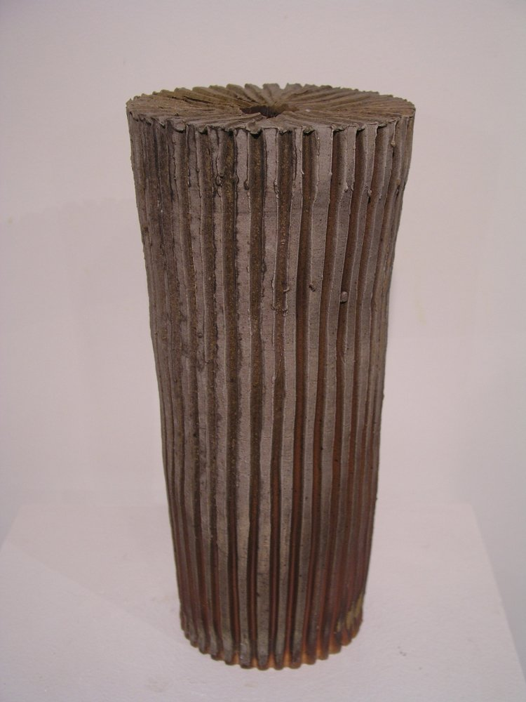 striated vase form