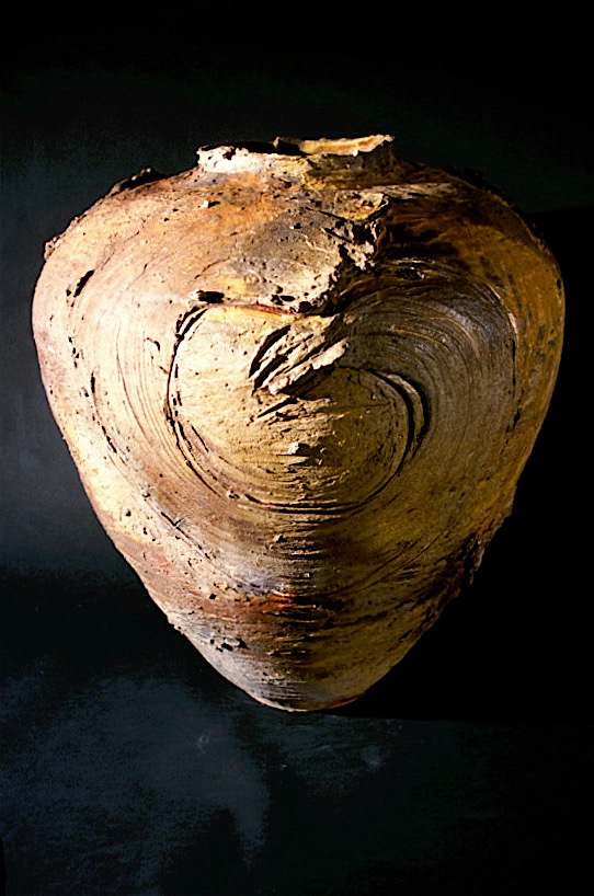 Large Wood-fired Jar Form with Strokes - Yale University Art Gallery, New Haven, CT