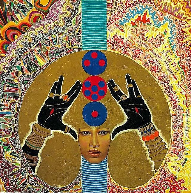 Blessing 1965 • In a time where inclusion and equality is more important than ever, the Robert Kidd Gallery is highlighting an artist who's vision of embracing differences was ahead of his time and still incredibly moving, today. • Mati Klarwein was an legendary artist in the 20th century who's works were recognized by musicians such as Miles Davis, Carlos Santana, and Jimi Hendrix.  Klarwein believed in challenging our assumptions.  Creating controversial pieces whose revolutionary force still feels just as intense and influential as the day it was released. • To find out more information on this piece: DM or 📥codyfranklin@robertkiddgallery.com