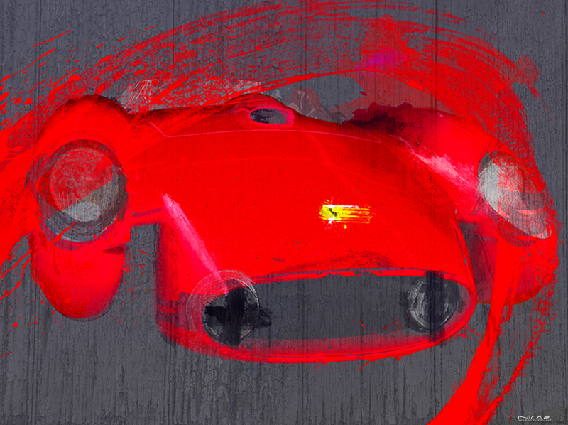 Red Head 57: 1957 Ferrari 250 Testa Rossa (30 x 40)