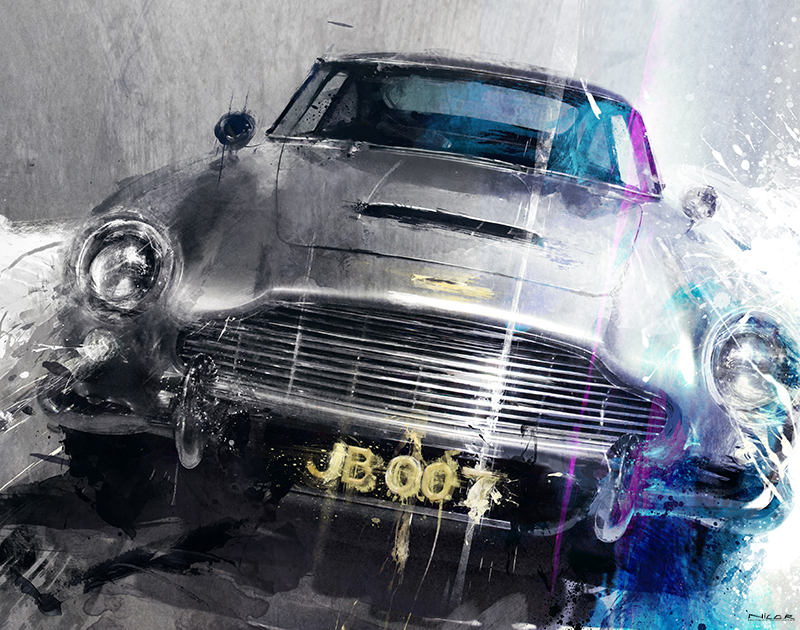 James Bond: Aston Martin DB5 (37 x 47)